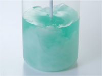 Stirring of liquids containing powder